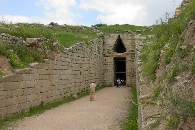 Citadel and Treasury of Atreus, Mycenae, Greece