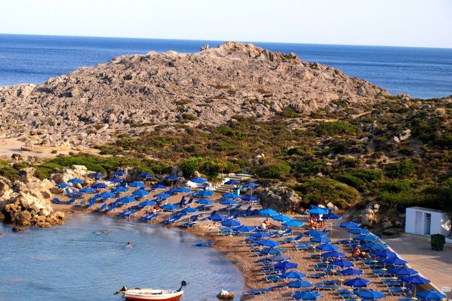 Ladiko Beach, Rhodes, Greece