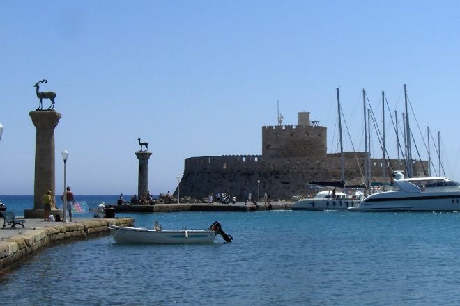 Mandraki Harbour, Rhodes Town, Greece