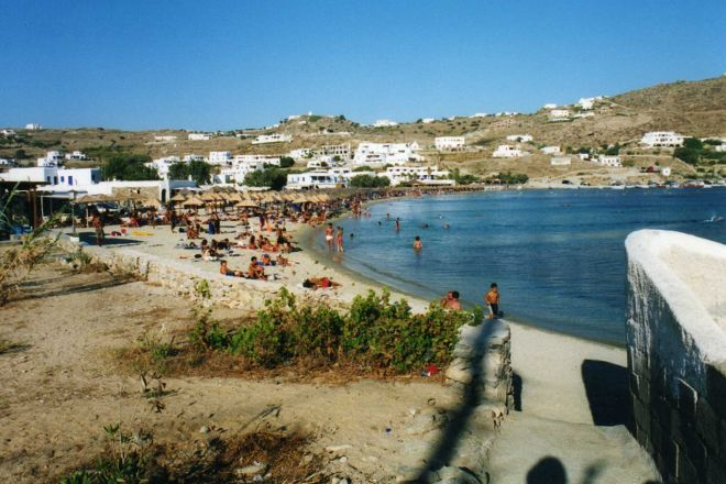 Ornos Beach, Ornos, Greece