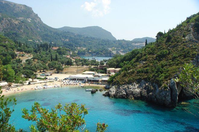 Paleokastritsa Beach, Paleokastritsa, Greece