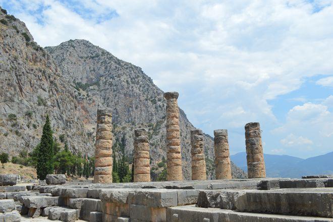 Temple of Apollo In Delphi, Delphi, Greece