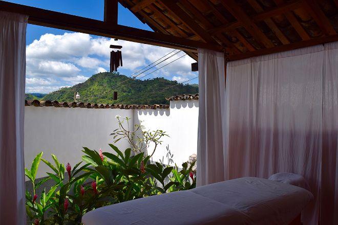 Bamboo Patio Massage Pavilion, Copan Ruinas, Honduras