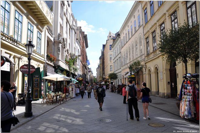 Vaci Street, Budapest, Hungary