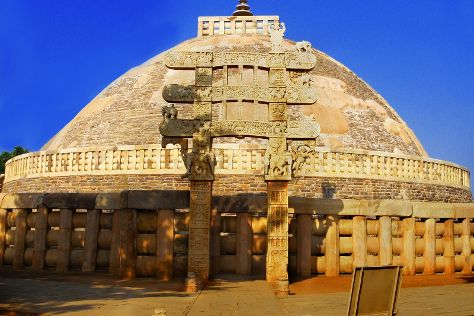 Buddhist Monuments at Sanchi, Bhopal, India
