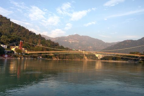 Lakshman Jhula Bridge, Rishikesh, India