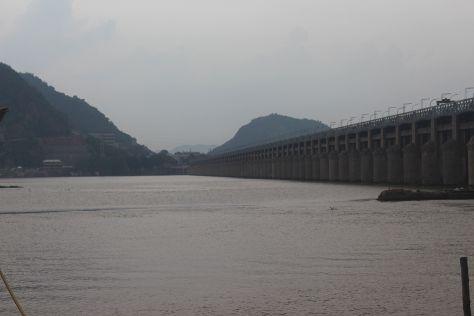 Prakasam Barrage, Vijayawada, India