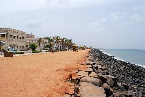 Seaside Promenade, Pondicherry, India