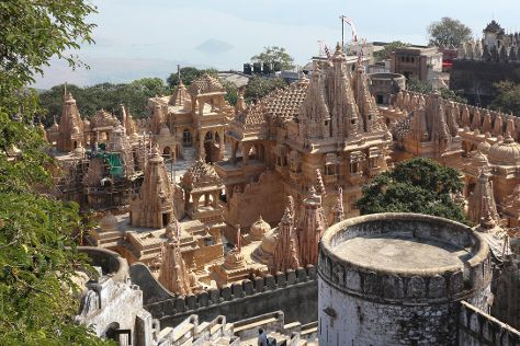 Shatrunjaya hill temple, Palitana, India
