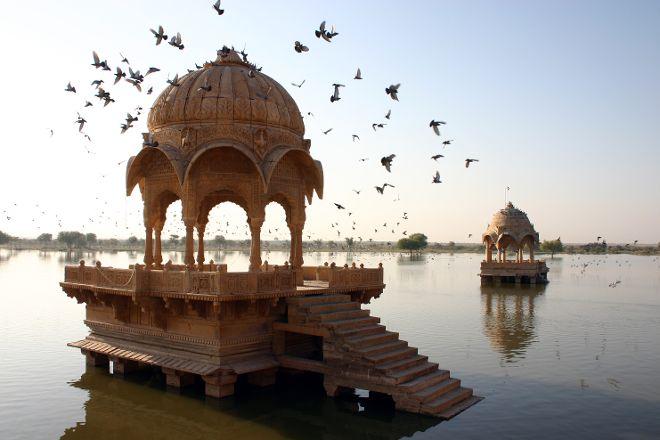 Amar Sagar Lake, Jaisalmer, India