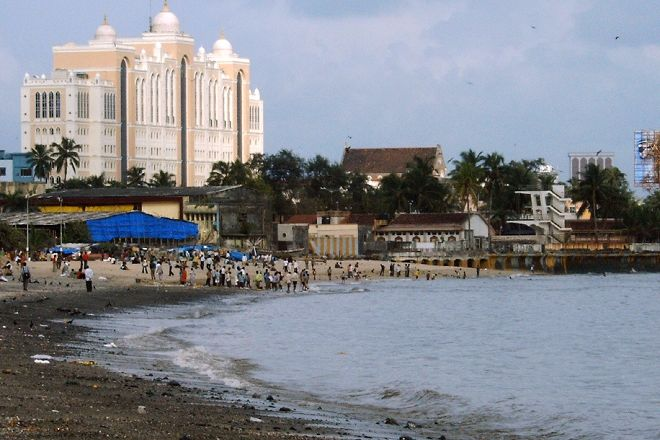 Chowpatty Beach, Mumbai, India