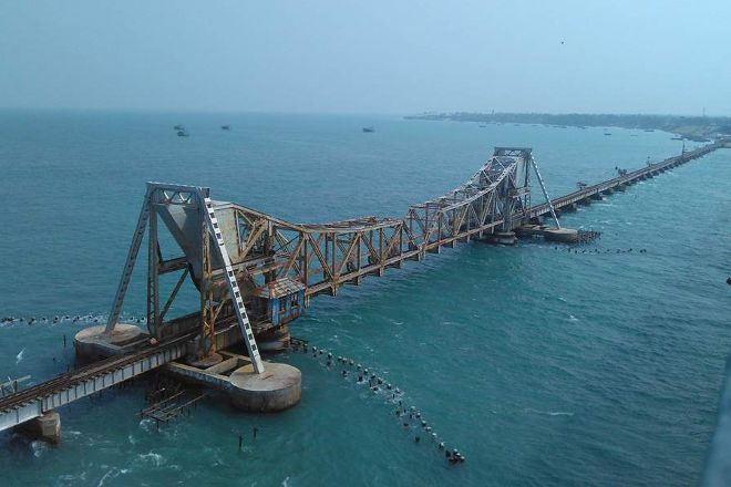 Pamban bridge, Rameswaram, India