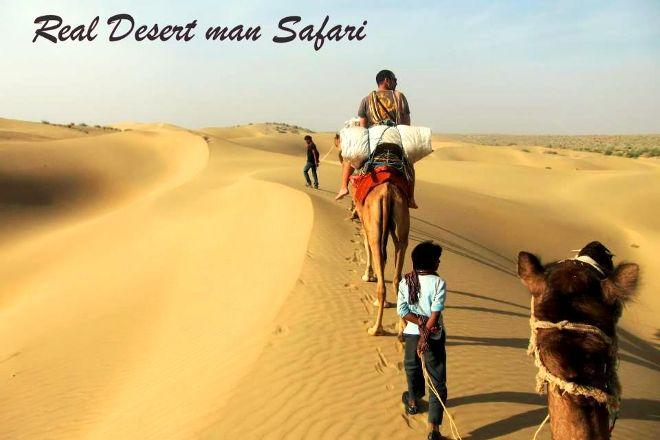 Real Desert Man Camel Safari, Jaisalmer, India