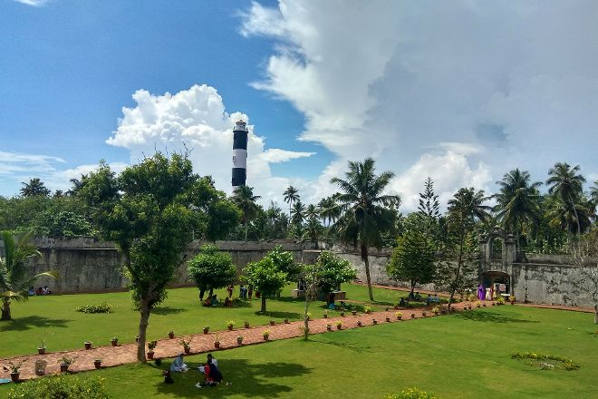 Varkala Light House, Varkala Town, India