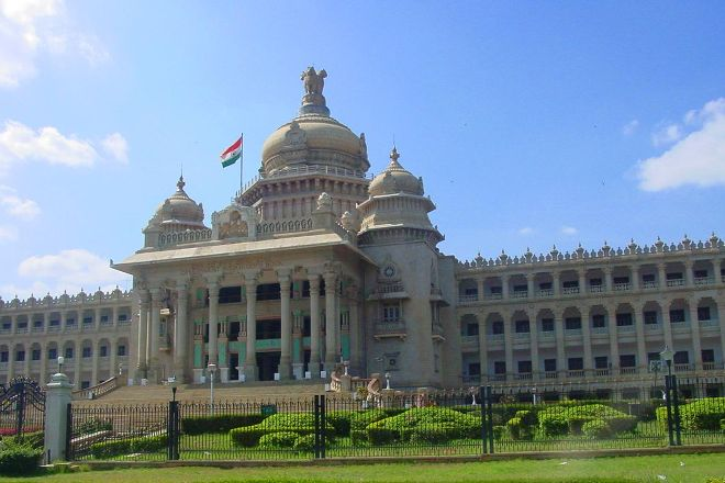 Vidhana Soudha and Attara Kacheri, Bengaluru, India