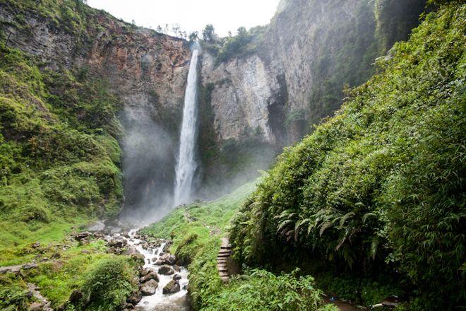 Sipiso Piso Waterfall, Kabanjahe, Indonesia