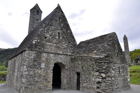 Glendalough Cathedral, Vale of Glendalough, Ireland
