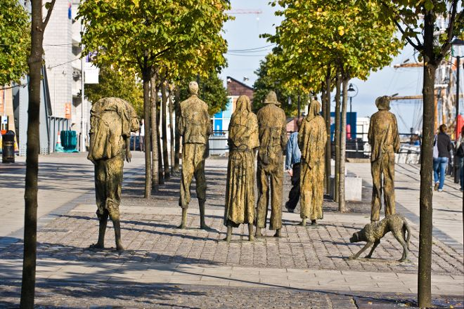The Famine Sculptures, Dublin, Ireland