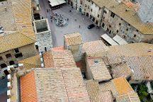Piazza della Cisterna, San Gimignano, Italy
