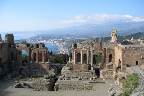 Ancient Theatre of Taormina, Taormina, Italy