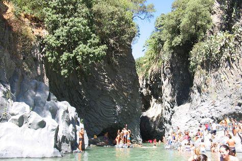 Gole Alcantara Botanical and Geological Park, Motta Camastra, Italy
