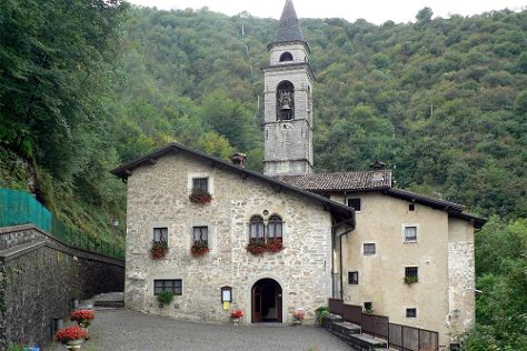Santuario Madonna Di Perello, Algua, Italy