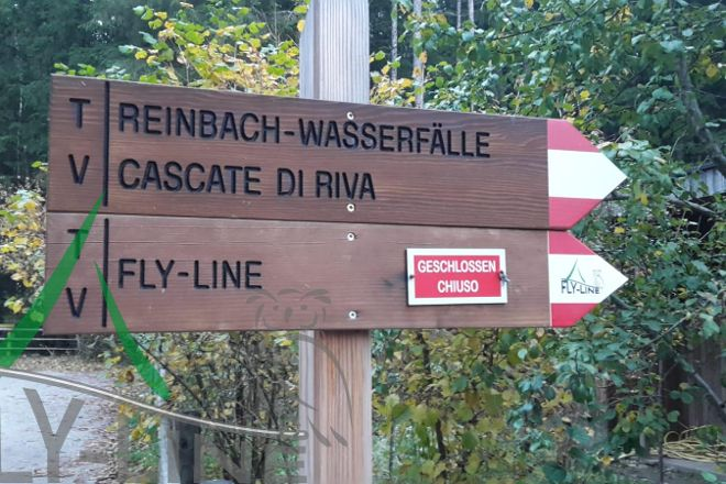 Fly-Line Wasserfall, Campo Tures, Italy