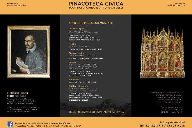Pinacoteca A. Ricci - Polittici di Carlo e Vittorio Crivelli, Monte san Martino, Italy