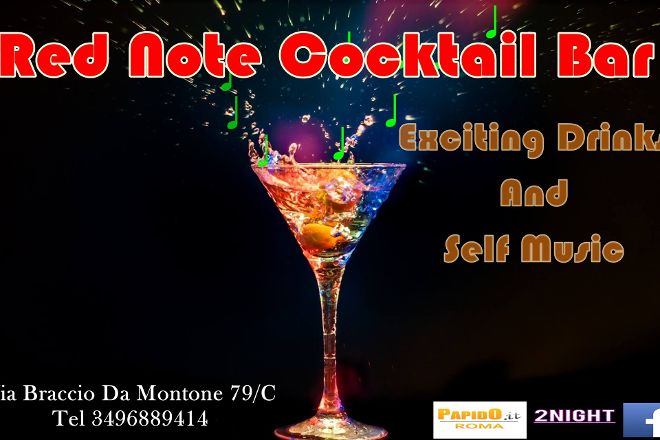 Red Note Cocktail Bar, Rome, Italy