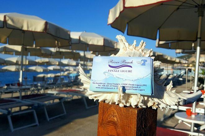 River Beach, Finale Ligure, Italy