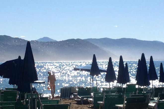 Spiaggia Minaglia Beach, Santa Margherita Ligure, Italy