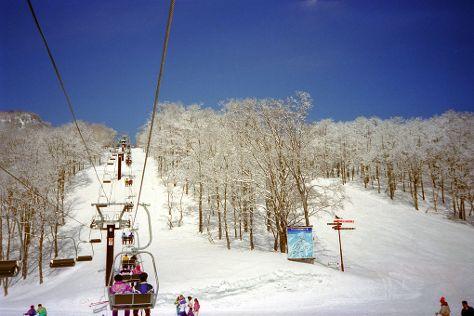 Akakura Onsen Ski Area, Myoko, Japan