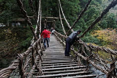 Iya Kazura Bridge, Miyoshi, Japan