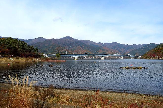 Lake Kawaguchi Ohashi Bridge, Fujikawaguchiko-machi, Japan