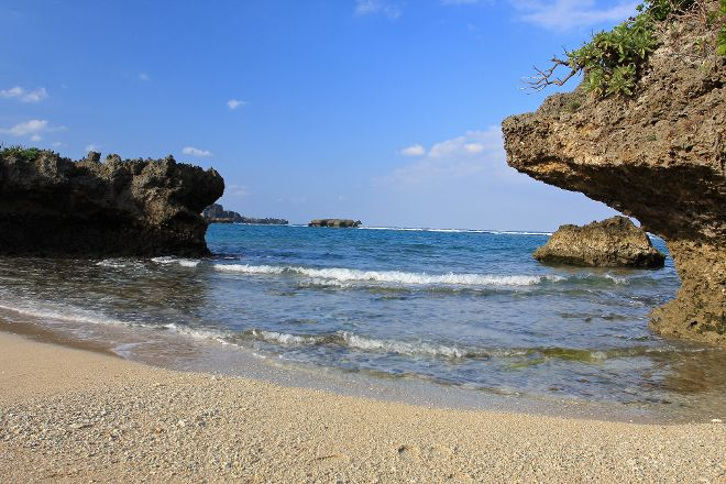 Manza Beach, Onna-son, Japan