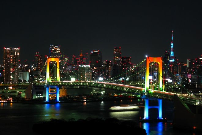 Rainbow Bridge, Daiba, Japan