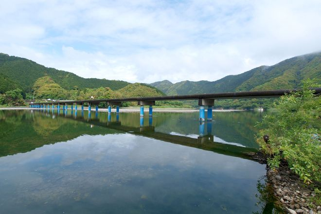 Submersible Bridge of Sada, Shimanto, Japan