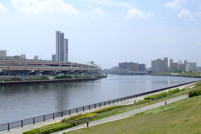 Sumidagawa River Terrace, Tokyo Prefecture, Japan