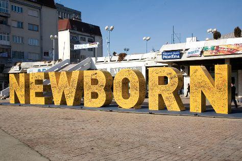 Newborn Monument, Pristina, Kosovo