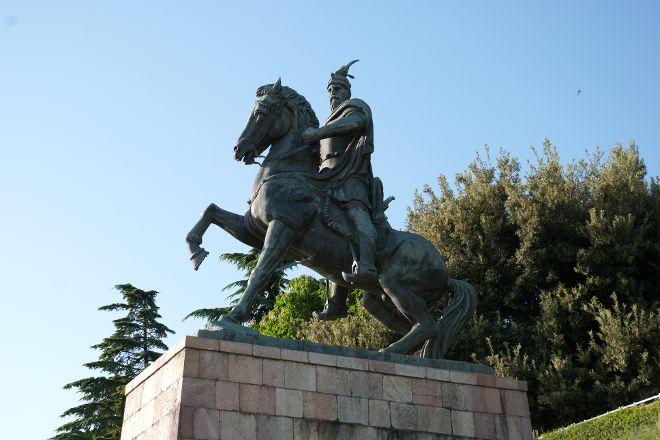 Skanderbeg statue, Pristina, Kosovo