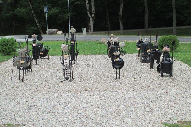 Sculptural Group Parade of the Knights, Sigulda, Latvia
