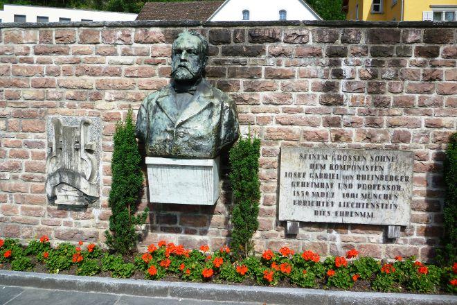 Bas-Relief to Josef Rheinberger, Vaduz, Liechtenstein