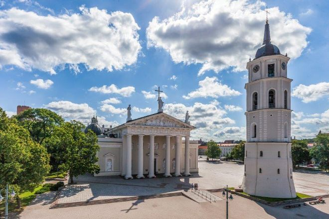 Bell Tower of Vilnius Cathedral, Vilnius, Lithuania