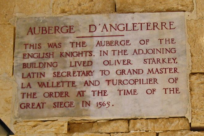 Auberge d'Angleterre, Birgu (Vittoriosa), Malta