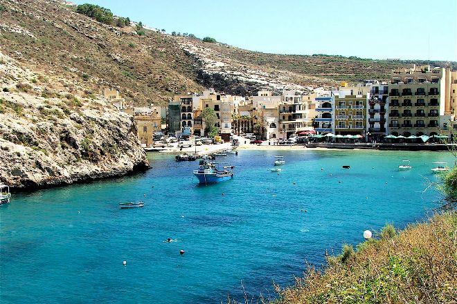 Xlendi Beach, Cliff and Caves, Xlendi, Malta