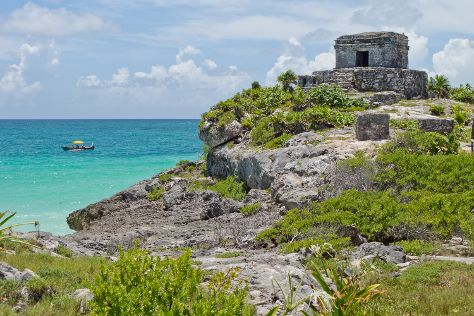 Tulum Archaeological Site, Tulum, Mexico