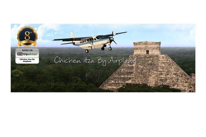 Chichen itza By Airplane, Cancun, Mexico