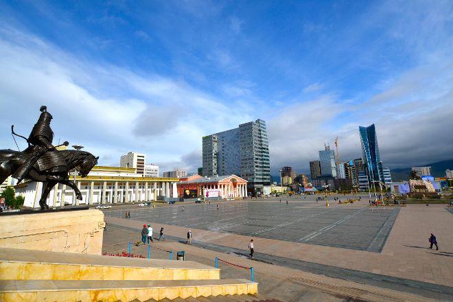 Genghis Khan Square, Ulaanbaatar, Mongolia