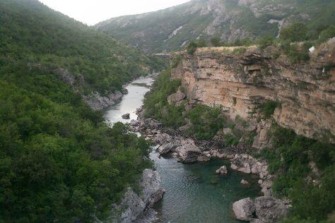 Morača River Canyon, Podgorica Municipality, Montenegro