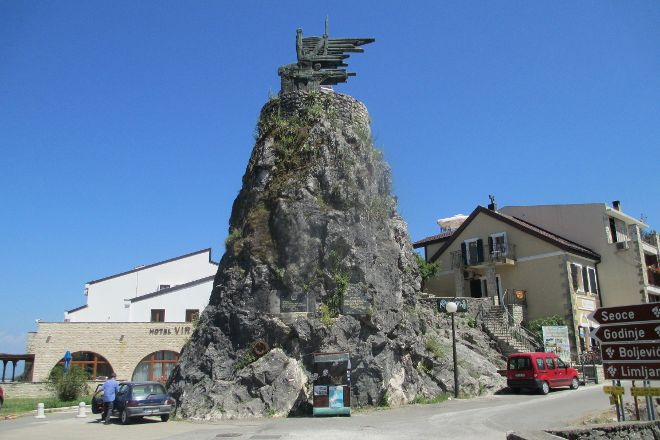 Monument to the Partizans and Heroes of the World War II, Virpazar, Montenegro